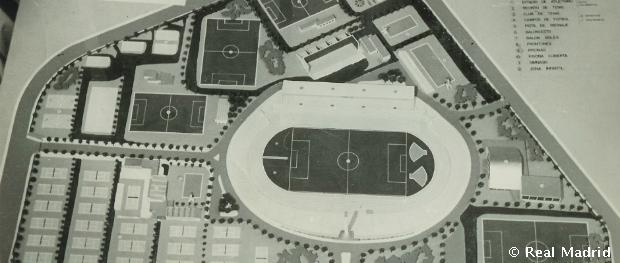A sportkomplexum modellje a hatvanas években