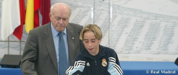 Di Stéfano és Dani Carvajal a Ciudad Real Madrid ünnepélyes megnyitóján