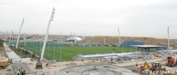Az egyik edzőpálya a Ciudad Real Madridban