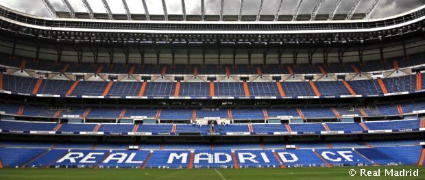 A Santiago Bernabéu stadion lelátója