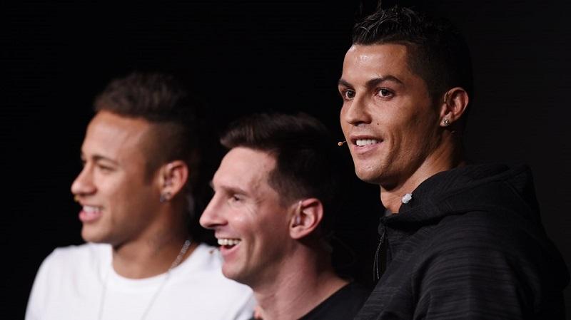 Messi, Cristiano és Neymar a gála előtti interjún